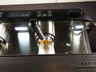 Image displaying the below view of the iberital expression pro espresso machine