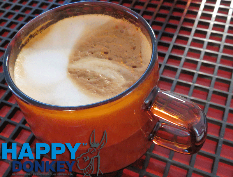 Image displaying a cup of coffee Happy Donkey